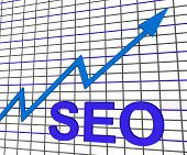 Seo Chart Graph Shows Increase Search Engine Optimization