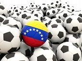 Football With Flag Of Venezuela