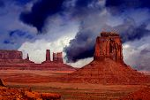 Wallpaper image of the beautiful ,Spiritual Monument Valley