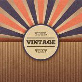 stock photo of starburst  - Retro sunburst cover poster layout vector illustration - JPG