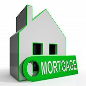 Mortgage House Shows Owing Money For Property
