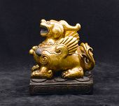 antique golden lion