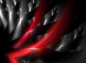 stock photo of gamma  - Intriguing abstract techno background with elements of metal - JPG
