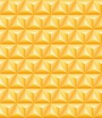 picture of triangular pyramids  - Abstract pattern of gold precious tripartite pyramids - JPG