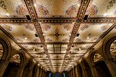 pic of arcade  - Photo of the tiled ceiling of the Bethesda Terrace Arcade Underpass found in the center of New York City - JPG