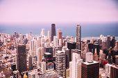 foto of illinois  - Modern Chicago Skyline Aerial View In Chicago Illinois USA - JPG