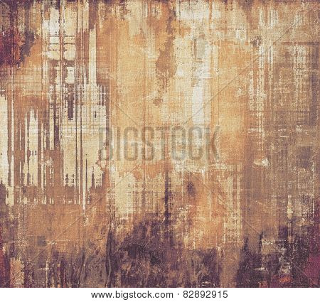 Retro foundation with grunge composition. With distinctive shading examples: yellow (beige); chestnu