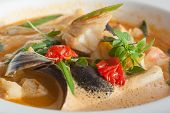 stock photo of cod  - Seafood dish with cod - JPG