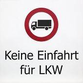 foto of no entry  - German sign which means - JPG