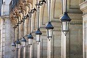 stock photo of dainty  - Street lighting lamp background urban look beautify - JPG