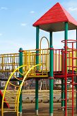 image of pubic  - children playground at pubic park in summer season - JPG