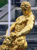 stock photo of samson  - Statue Samson of Petrodvorets - JPG