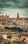 picture of parador  - Toledo over sunset - JPG