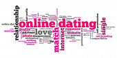 picture of soulmate  - Online dating issues and concepts word cloud illustration - JPG