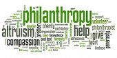 pic of word charity  - Philanthropy issues and concepts word cloud illustration - JPG