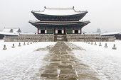 picture of winter palace  - must see beautiful gyeongbok palace in soul south korea  - JPG