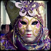foto of venice carnival  - Carnival of Venice beautiful masks at St - JPG