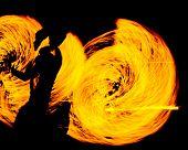 pic of fiery  - Night Performance Fiery Motion  - JPG