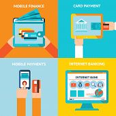 image of electronic banking  - Online banking and mobile banking - JPG
