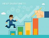 stock photo of partnership  - Help in business concept - JPG