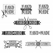 picture of tailoring  - Set of vintage retro handmade badges - JPG