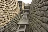 pic of world war one  - This section of trench was restored by Canadian soldiers who visited the area after the First world War - JPG