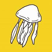 foto of jellyfish  - Jellyfish Doodle - JPG