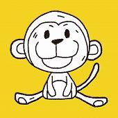 pic of chinese zodiac  - Chinese Zodiac Monkey Doodle Drawing - JPG