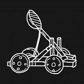 picture of trebuchet  - Trebuchet Doodle - JPG