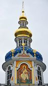 picture of chapels  - Blue chapels of the church of the Pskov - JPG