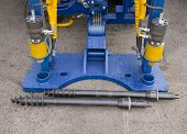 image of hydraulics  - Hydraulic Cylinders of boring machine and drills - JPG