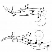 Music notes for sheet music