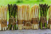 stock photo of white asparagus  - Asparagus  - JPG