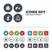 picture of disinfection  - Bug disinfection icons - JPG