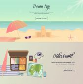 picture of passport template  - Summer holidays - JPG