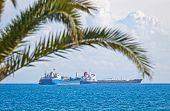 image of lng  - Industrial ships in Mediterranean sea near Cyprus coast  - JPG