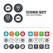 image of gents  - WC Toilet pointer icons - JPG