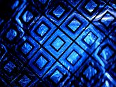 stock photo of grids  - Blue glowing gpu grid in cyberspace grid computing computer generated abstract background - JPG
