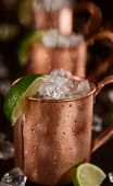 stock photo of mule  - Cold Moscow Mules  - JPG