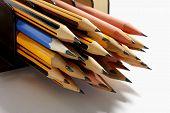 picture of bundle  - Close Up of a Bundle of Pencils - JPG