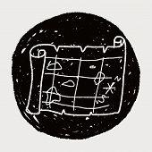 foto of treasure map  - Treasure Map Doodle - JPG
