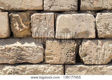 Weathered globerigina limestone