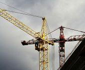 stock photo of dnepropetrovsk  - Two crane on sky background - JPG