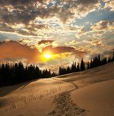 pic of winter landscape  - Sunset scene - JPG