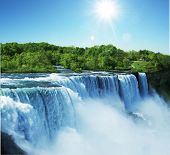 pic of waterfalls  - Niagara waterfall - JPG