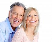stock photo of elderly couple  - Senior couple in love - JPG