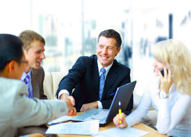 picture of business meetings  - Business people shaking hands - JPG