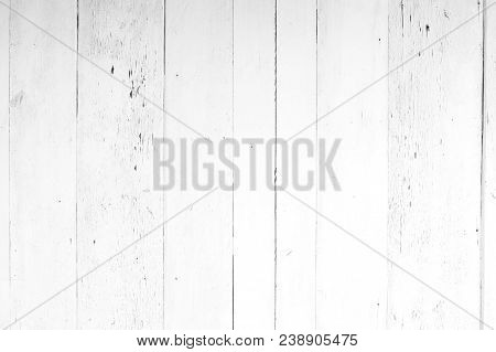 poster of Old White And Gray Wood Texture And Background In Vintage Tone.