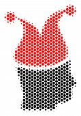 Halftone Hexagonal Joker Icon. Pictogram On A White Background. Vector Composition Of Joker Icon Org poster