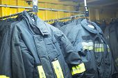Fire Fighters Uniform Station Equipment poster